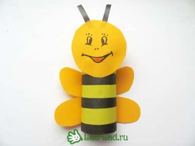 Как сделать пчелу из бумаги своими руками