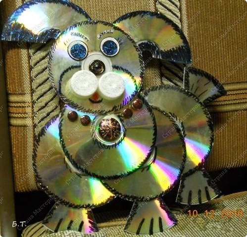 Поделки для дачи из дисков своими руками