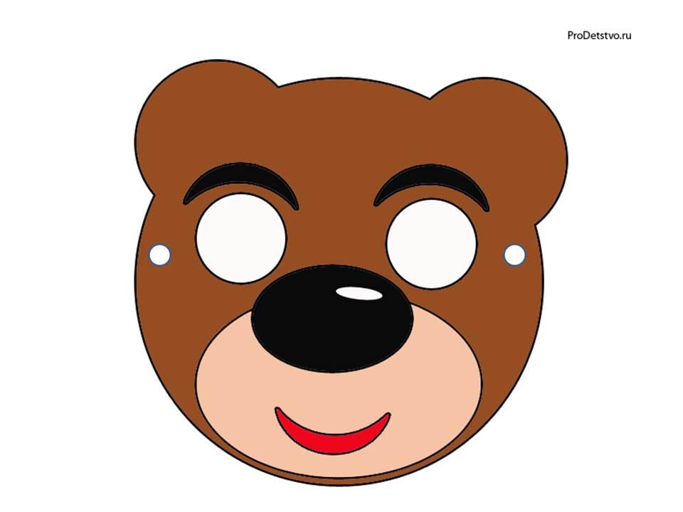 Как из бумаги сделать маску медведя
