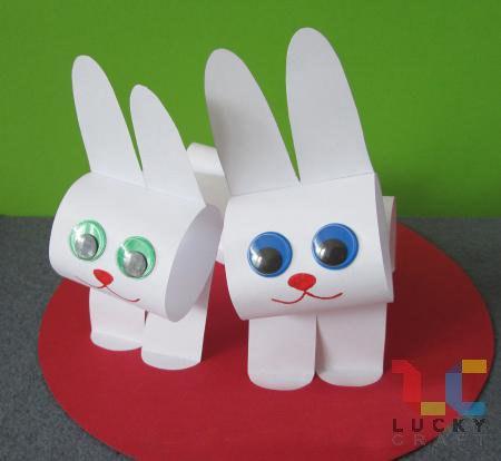 Поделка из бумаги зайца